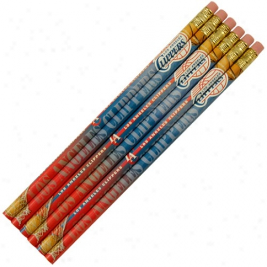 Los Angeles Clippers 6-pack Team Logo Pencil Set