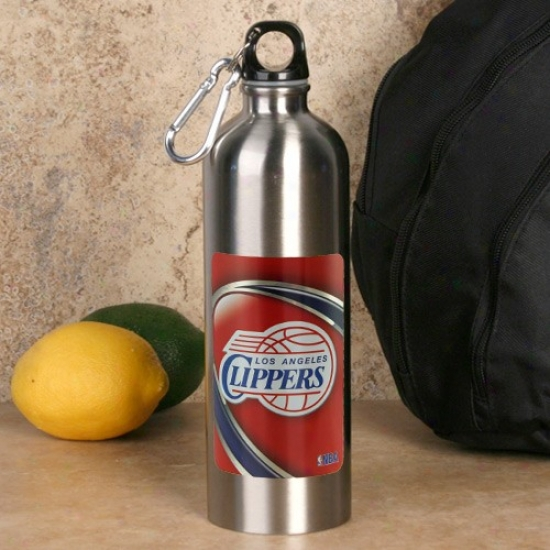 Los Angeles Clippers 750lm Stainless Steel Water Bottle W/ Carabiner Clip