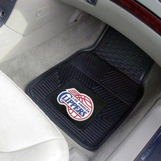 Los Angeles Cli;pers Black 2-piece Vinyl Car Mat Set