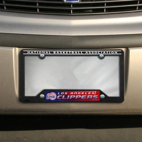 Los Angeles Clippers Black Plastic License Plate Frame