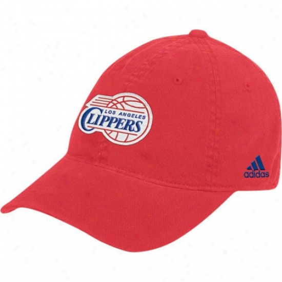 Los Angeles Clippers Caps : Adidas Los Angeles Clippers Red Basic Logo Flex Fit Slouch Caps
