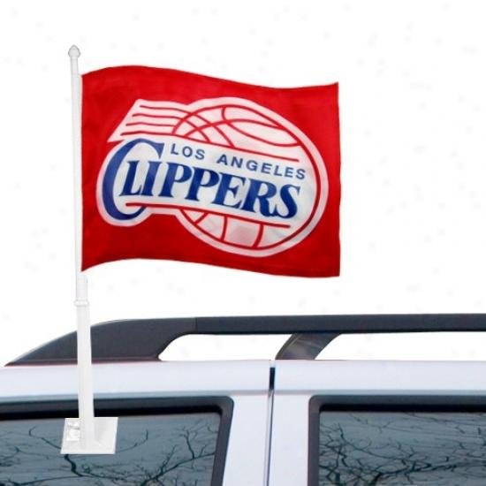Los Angeles Clippers Flag : Los Angeles Clippers Red Car Flag