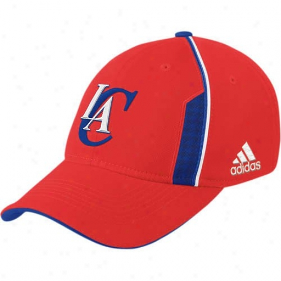 Los Angeles Clippers Gewr: Adidas Los Angeles Clippers Red Official Team Flex Fit Hat