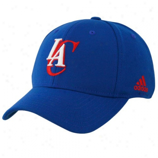 Los Angeles Clippers Hat : Adidas Los Angeles Clippers Royal Blue The Pivot Logo Flex Fit Hat