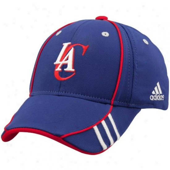 Los Angeles Clippers Hat : Adidas Los Angeles Clippers Royal Blue Draft Day 1-fit Flex Fit Hat