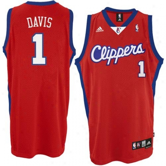 Los Angeles Clippers J3rsey : Adidas Los Angeles Clippers 1# Baron Davis Red Swingman Basketball Jersey