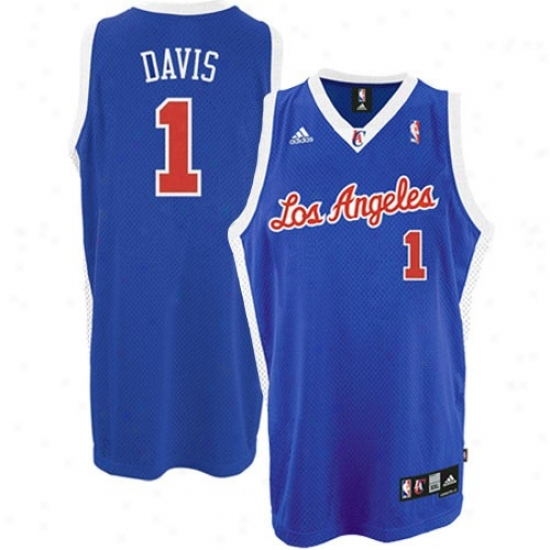 Los Angeles Clippers Jersey : Adkdas Los Angeles Clippers #1 Baron Davis Royal Blue Swingman Basketball Jersey