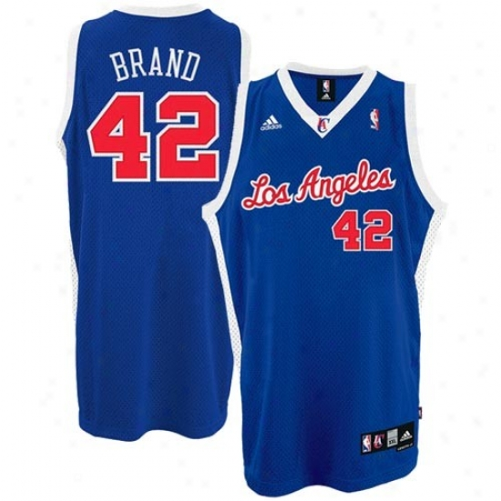 Los Angeles Clippers Jerseys : Adidas Los Angeles Clippers #1 Elton Brand Royal Blue 2nd Road Swingman Basketball Jersrys