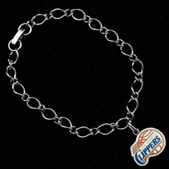 Los Angeles Clippers Ladies Silver-tone Fascinate Bracelet