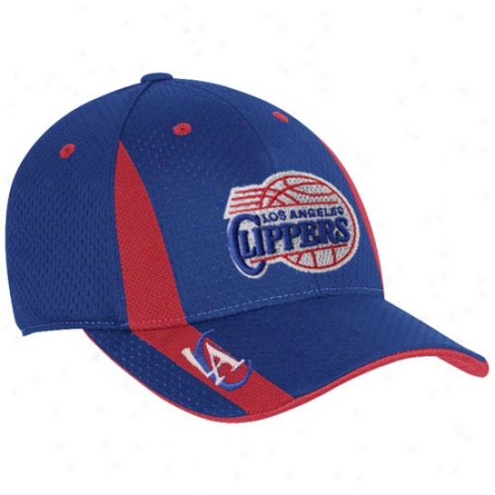Los Angeles Clippers Merchandise: Adidas Los Angeles Clipperd Royal Azure Swingman Flex Fit Hat