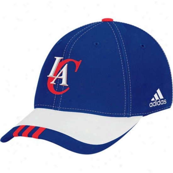 Los Angeles Clippers Merchandise: Adidas Los Angeles Clippers Royal Blue 2008 Nba Draft Day 1-fit Flex Fit Hat