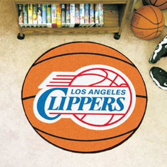 Los Angeles Clippers Orange Round Basketball Mat