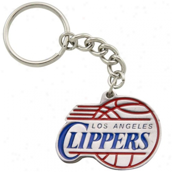 Los Angeles Clippers Pewter Primary Loggo Keychain