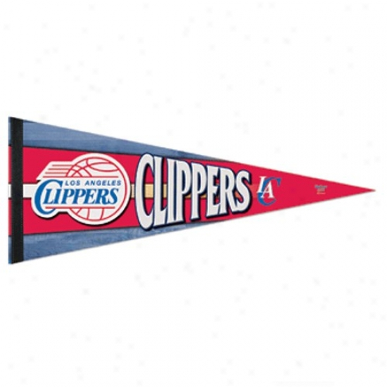Los Anbeles Clippers Red 12'' X 30'' Premium Felt Pennant