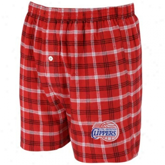 Los Angeles Clippers Red Plaid Tailgate Boxer Shorts