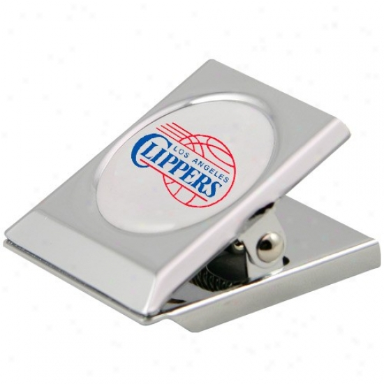 Los Angeles Clippers Silver Magnetic Heavy Duty Chip Clip