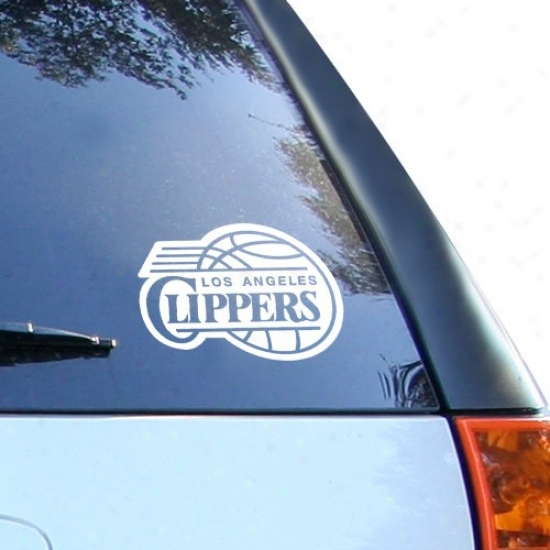 Los Angeles Clippers White 8'' X 8'' Logo Decal