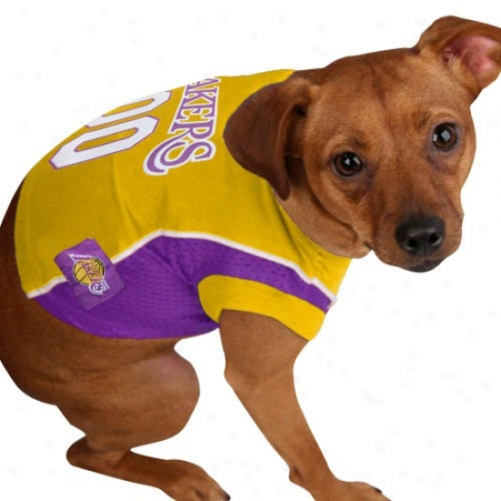 Los Angeles Lakers #00 Gold Pet Mesh Jersey