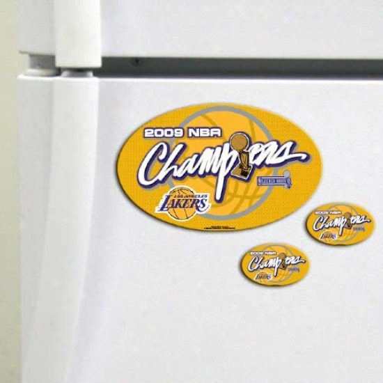 Los Angeles Lakers 2009 Nba Champions 3-pack Magnet Set