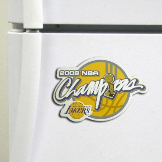 """los Angeles Lakers 2009 Nba Champions 6"""" Magnet"""