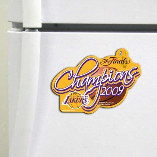 Los Angeles Lakers 2009 Nba Champions Gold High Definition Precision Cut Loadstone