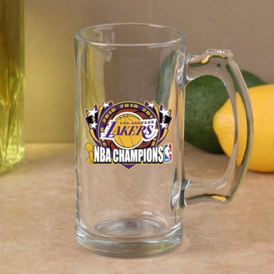 Los Angeles Lakers 2010 Nba Champions 13oz. Glass Sports Mug