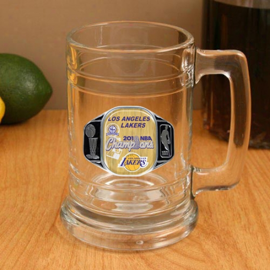 Los Angeles Lakers 2010 Nba Champions 15oz. Pewter Logo Gkass Tankard