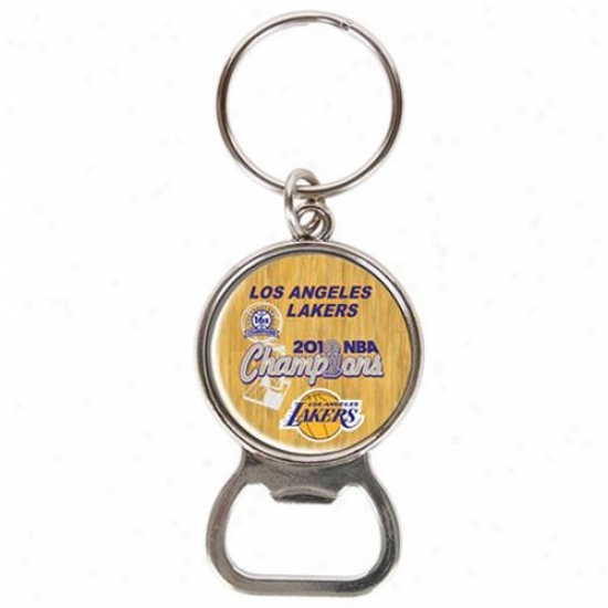 Los Angeles Lakers 2010 Nba Champions 16-time Champs Bogtle Opener Keychain