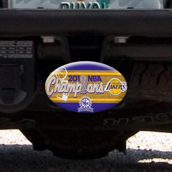 Los Angeles Lakers 2010 Nba Champions 16-time Champs Oval Plastic Hitch Cover