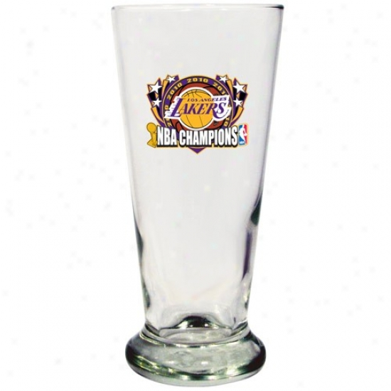 Los Angeles Lakers 2010 Nba Champions 16.5oz. Pilsner Glass
