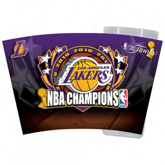Los Angeles Lakers 2010 Nba Champions 16oz. Slimline Plastic Tumbler