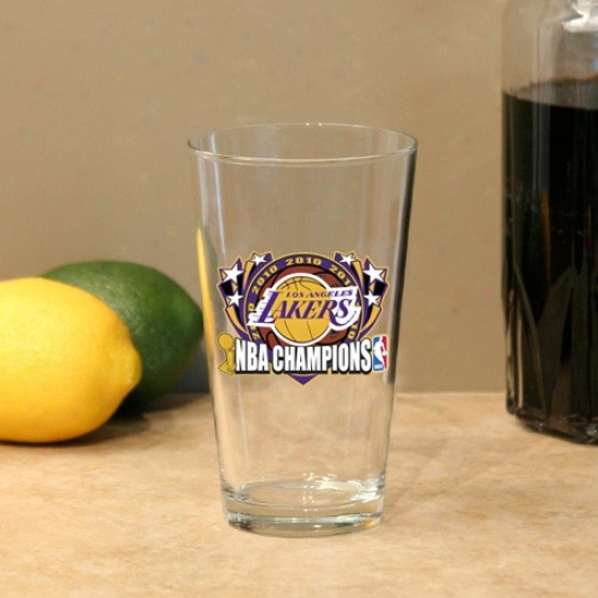 Los Angeles Lakers 2010 Nba Champions 17oz. Mixing Glass
