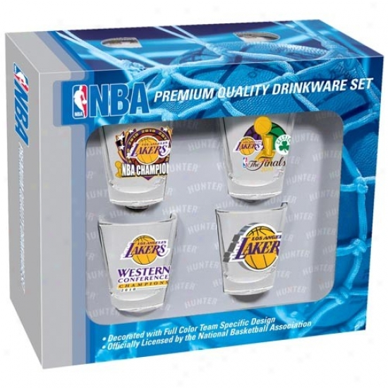 Los Angeles Lakers 2010 Nba Champions 4-pack Shot Glass Set