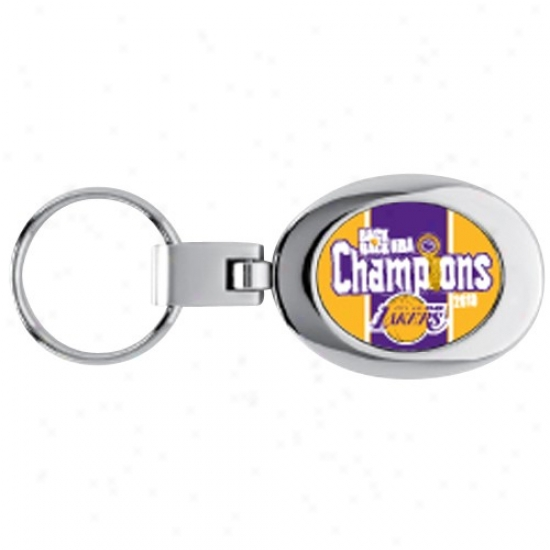 Los Angeles Lakers 2010 Nba Champions Back-to-back Champs Domed Keychain