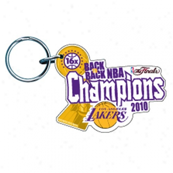 Los Angeles Lakers 2010 Nba Champions Back-to-back Champs Premium Acrylic Keychain