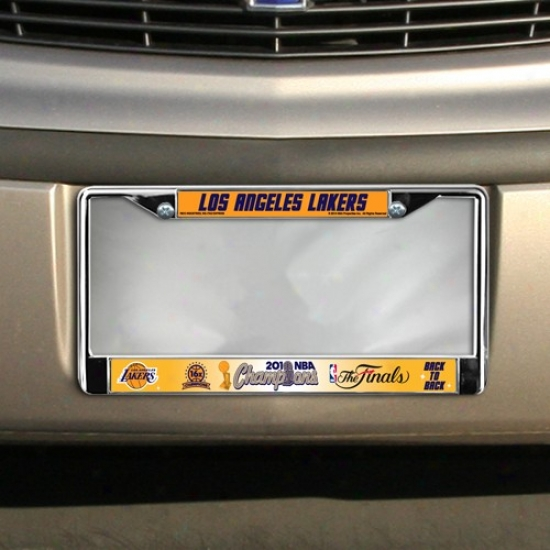Los Angeles Lakers 2010 Nba Champions Chrome Laxity Plate Frame