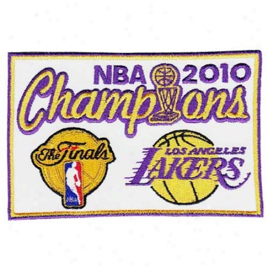 Los Angeles Lakers 2010 Nba Champions Collector's Patch