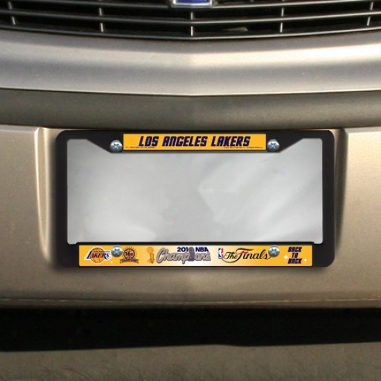 Los Angeles Lakers 20110 Nba Champions Plastic License Plate Frame