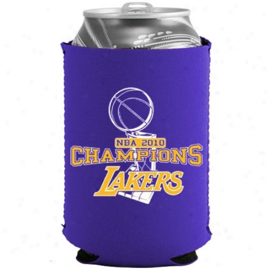 Los Angeles Lakers 2010 Nba Champions Purple Collapsible Cam Cooolie