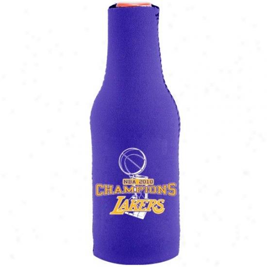 Los Angeles Lakers 2010 Nba Champions Purple 12oz. Bottle Coolie