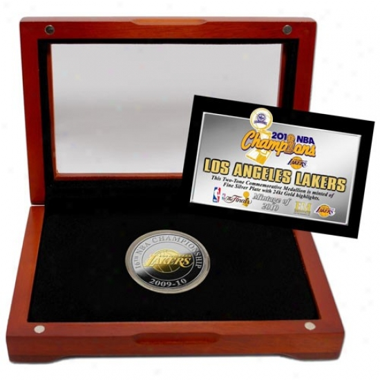 Los Angeles Lakers 2010 Nba Champions Two-tone Coin