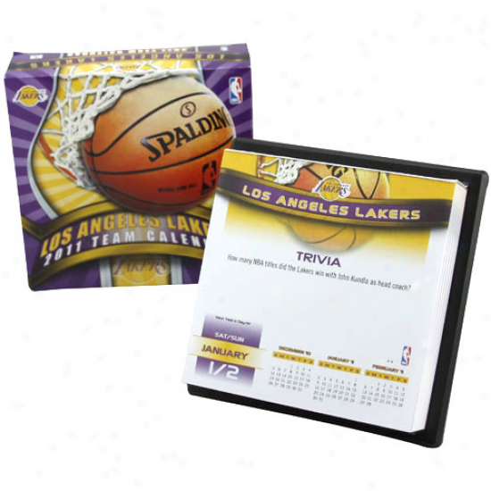 Los Angeles Lakers 2011 Boxed Calendar