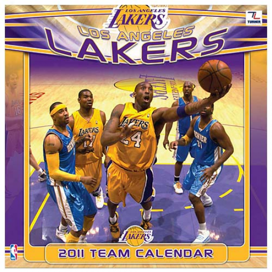 Los Angeles Lakers 2011 Wall Calendar