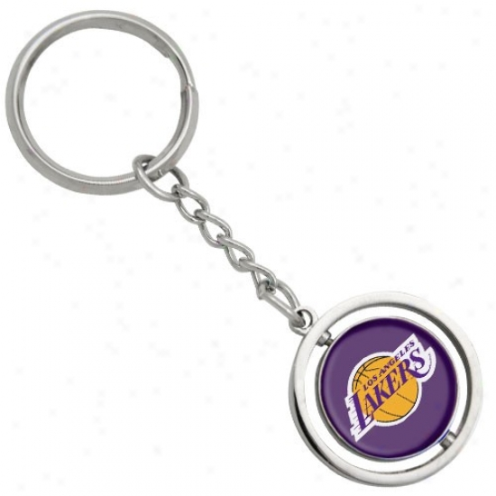 Los Angeles Lakers 3d Spinning Basketball Keychain