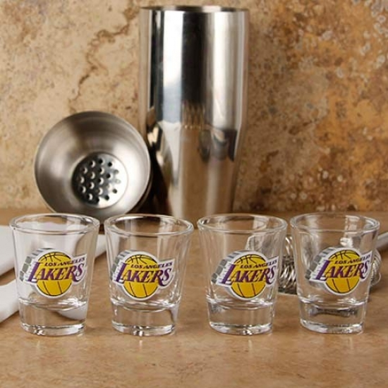 Los Angeles Lakers 4-pack Enhanced High Definition Design Shot Glass Sst