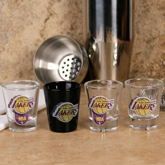 Los Angeles Lakers 4-pack High Definition Shot Glass Set