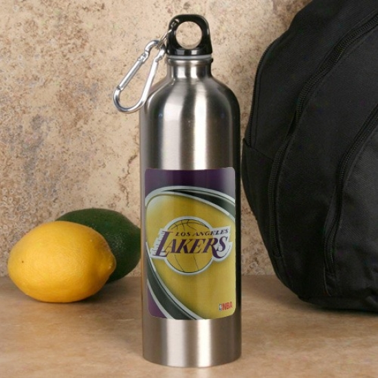 Los Angeles Lakers 750ml Stainless Steel Water Bottle W/ Carabiner Clip