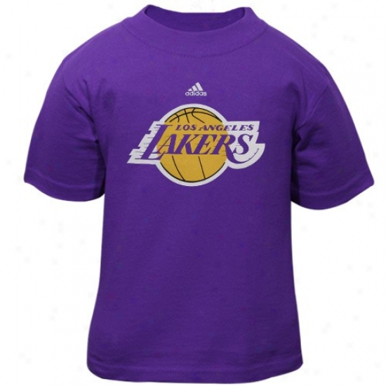Los Anglees Lakers Attire: Adidas Los Angeles Lakers Toddler Purple Primary Logo T-shirt