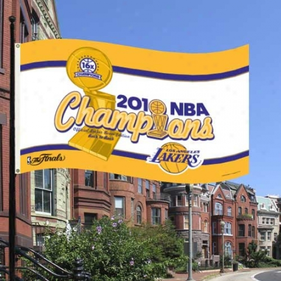 Los Angeles Lakers Banner : Lps Angeles Lakers 2010 Nba Champions 3' X 5' Banner