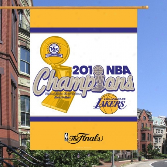 Los Angeles Lakers Banners : Los Angeles Lakers 2010 Nba Champions Back-to-bqck Champs Vertical Banners Banners